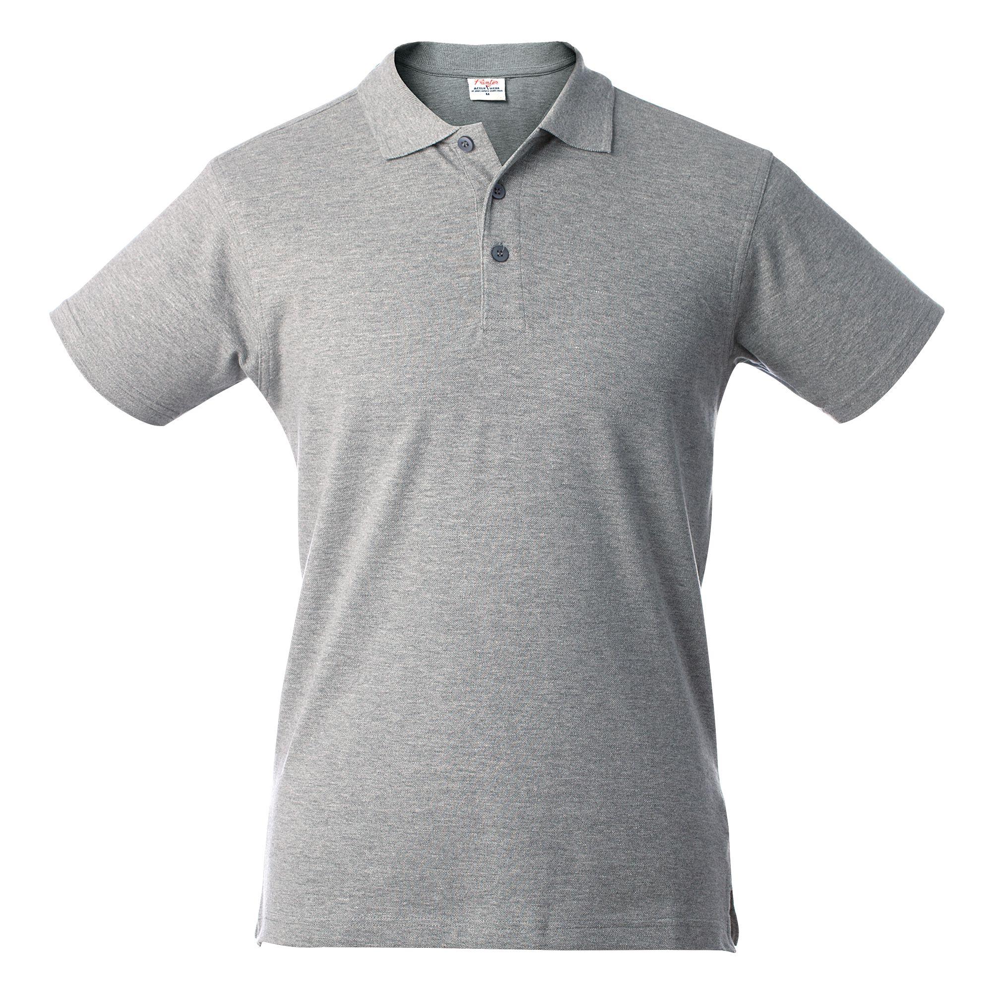 Рубашка поло мужская SURF, серый меланж