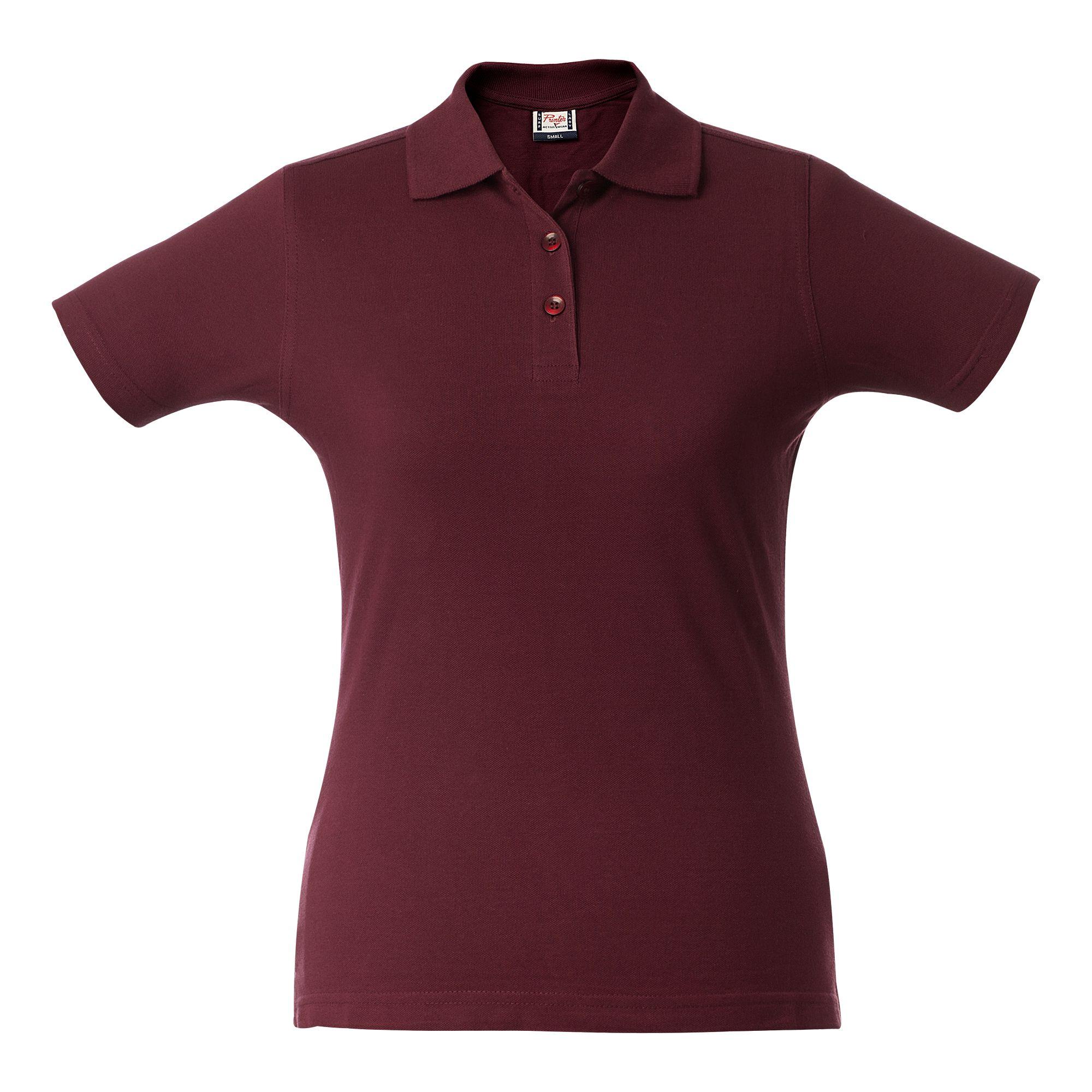 Рубашка поло женская SURF LADY, бордовая