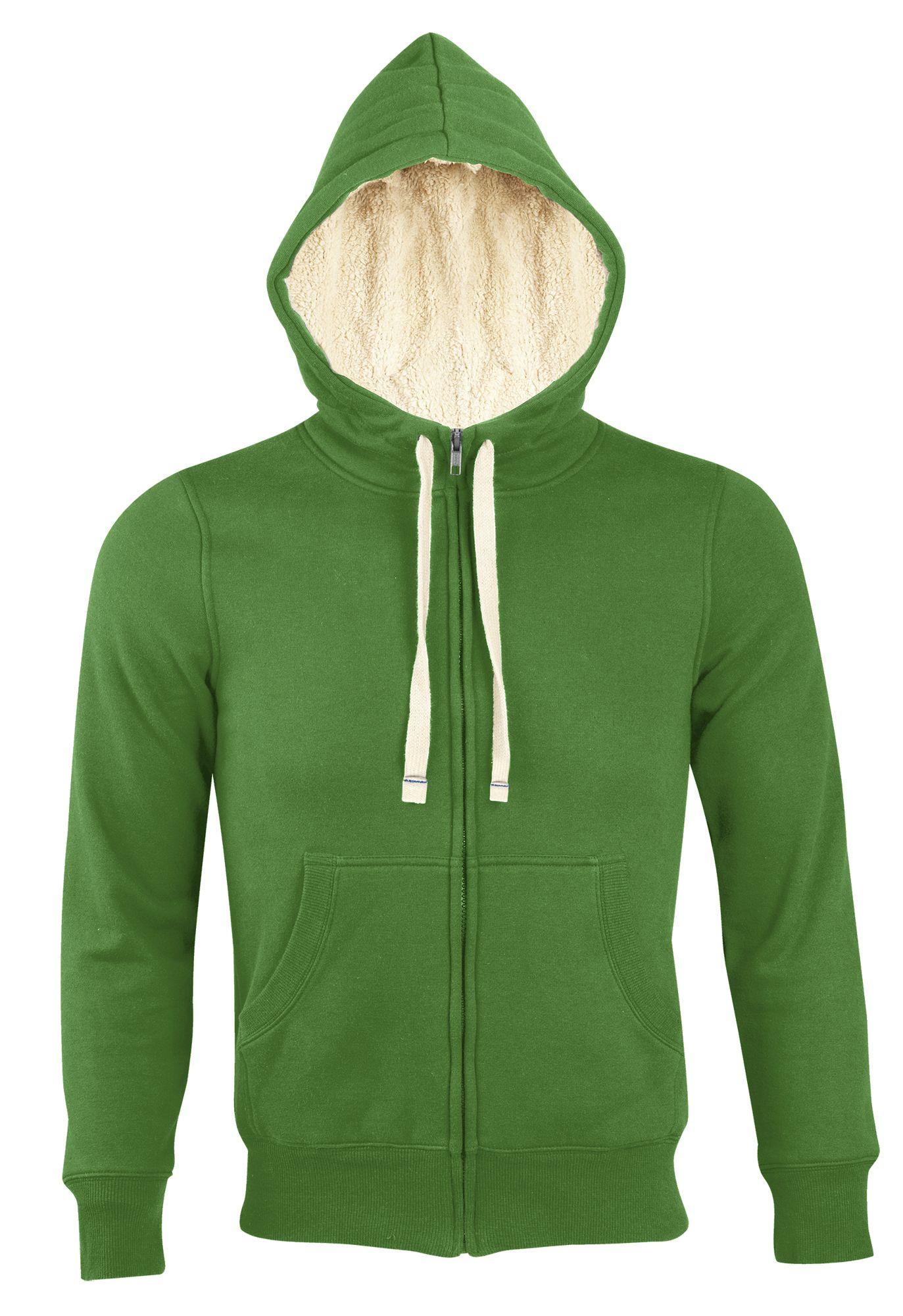 Толстовка унисекс на молнии SHERPA 280, ярко-зеленая