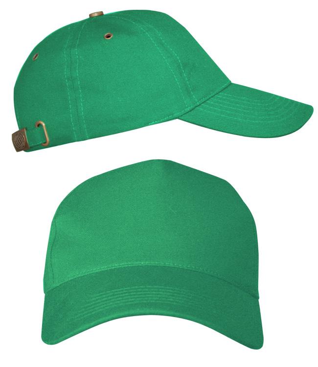 Бейсболки Leader 100 на металлической застежке, зеленая