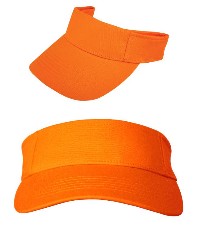 Козырек Leader на липучке, оранжевый