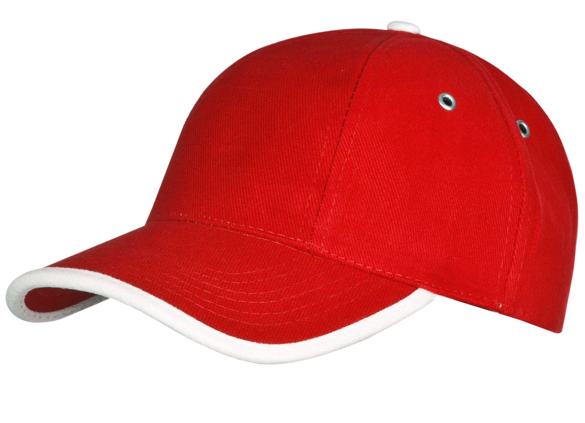 Бейсболка Unit Trendy, красная с белым