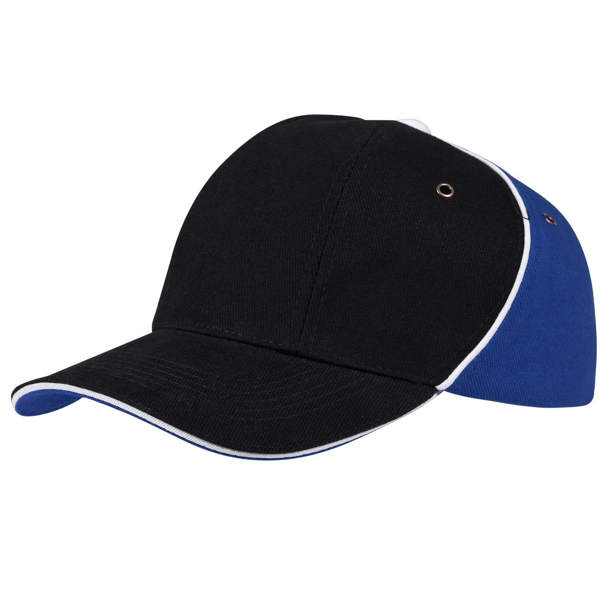 Бейсболка UNIT SMART, черная с синим