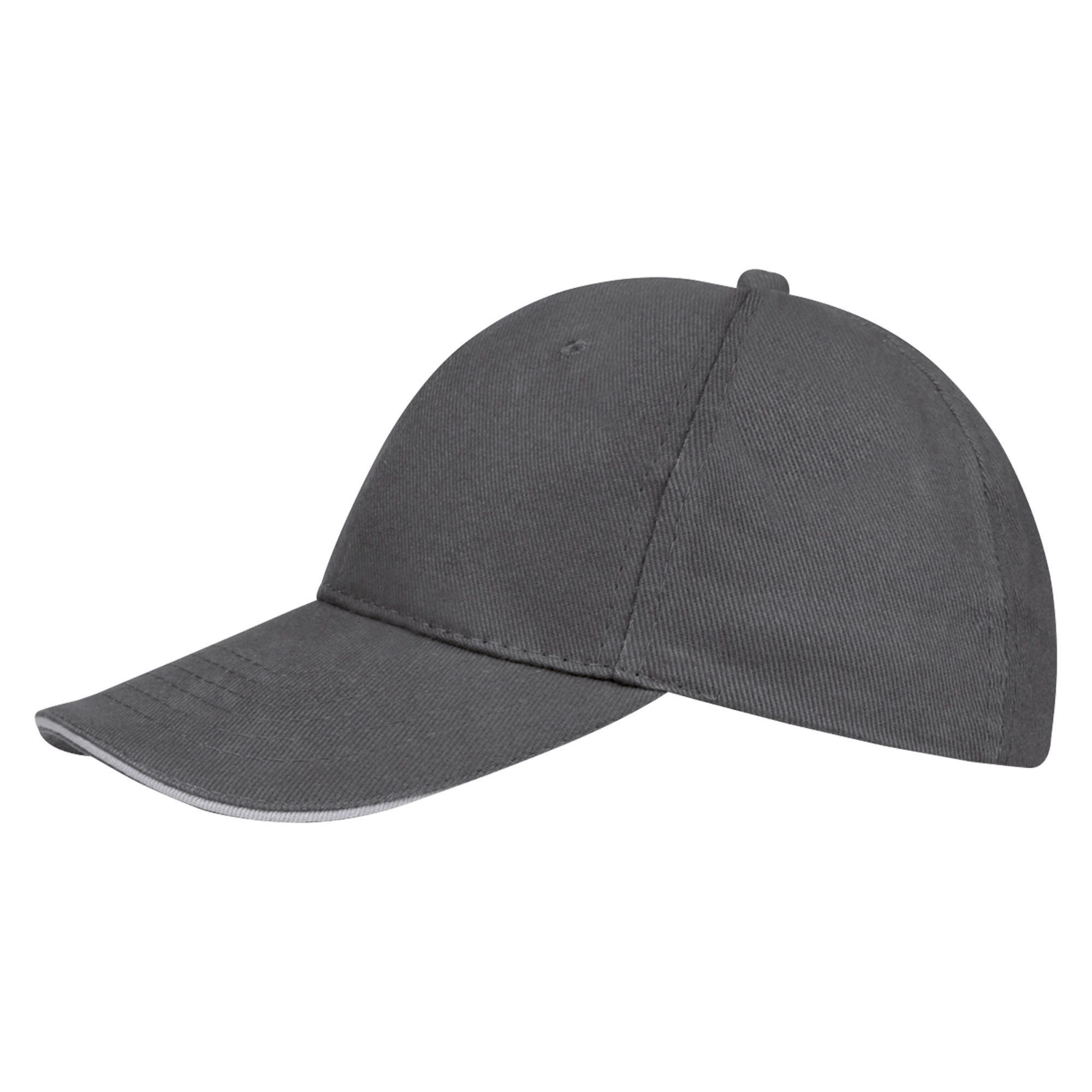 Бейсболка BUFFALO, темно-серая со светло-серым