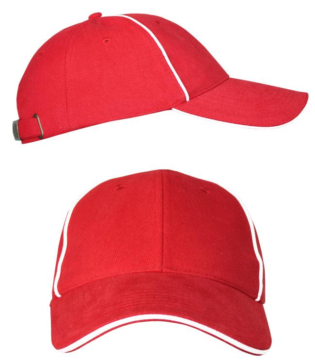 Бейсболки Leader 206 на металлической застежке, красная
