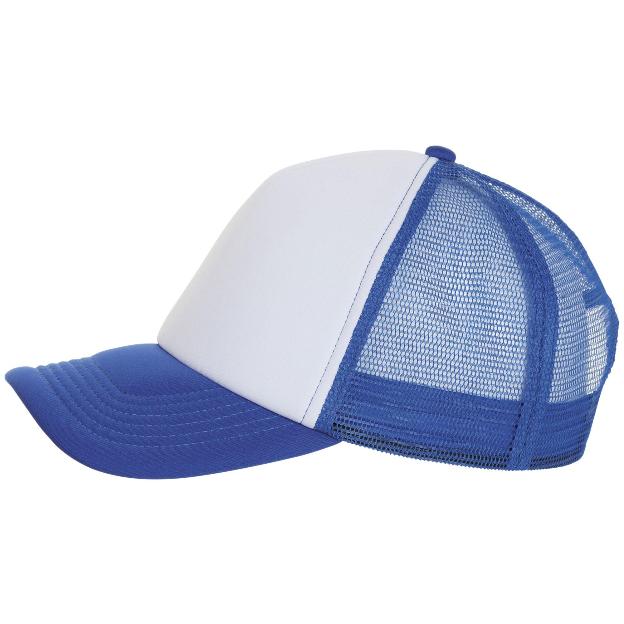 Бейсболка BUBBLE, синяя с белым