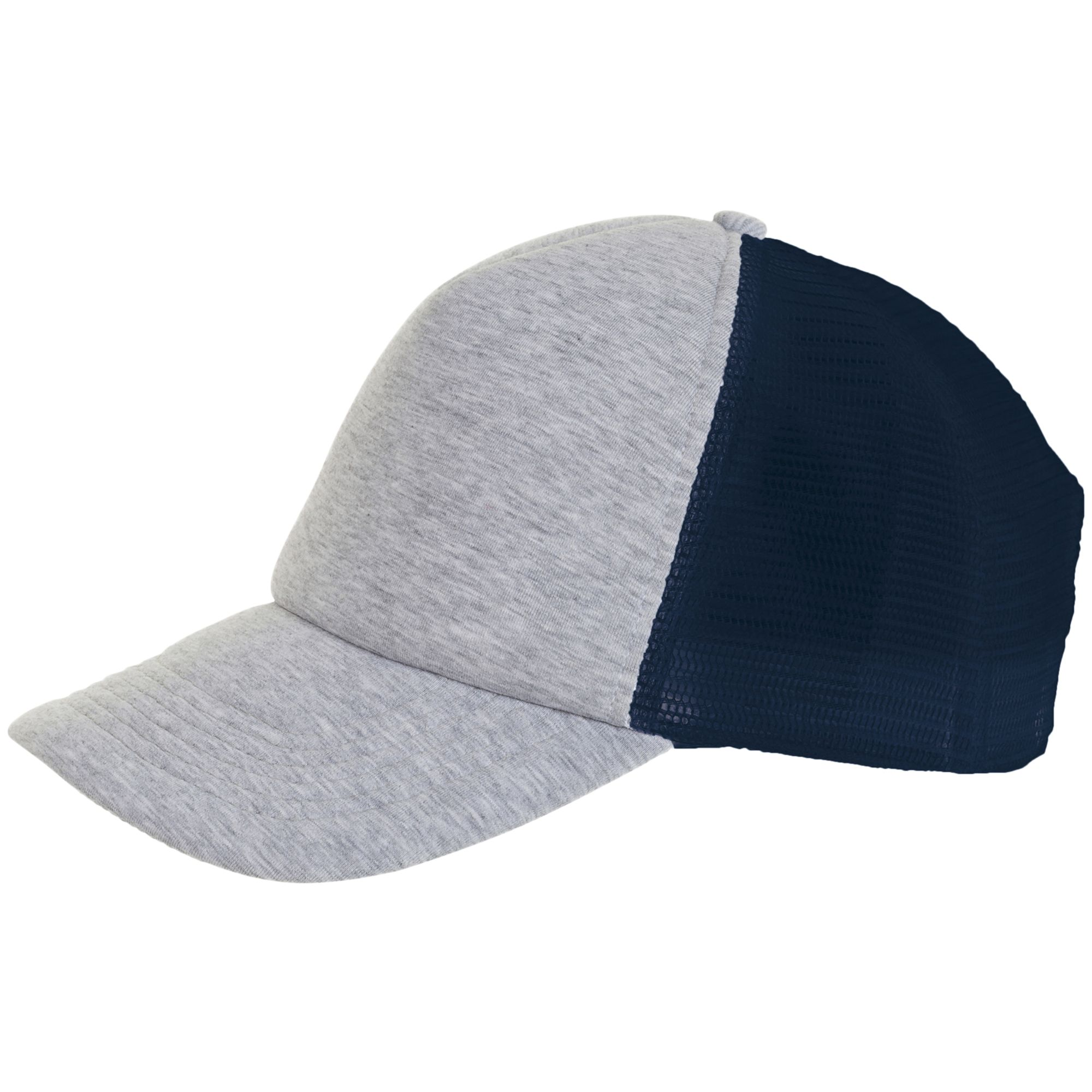 Бейсболка DODGE, серый меланж с темно-синим