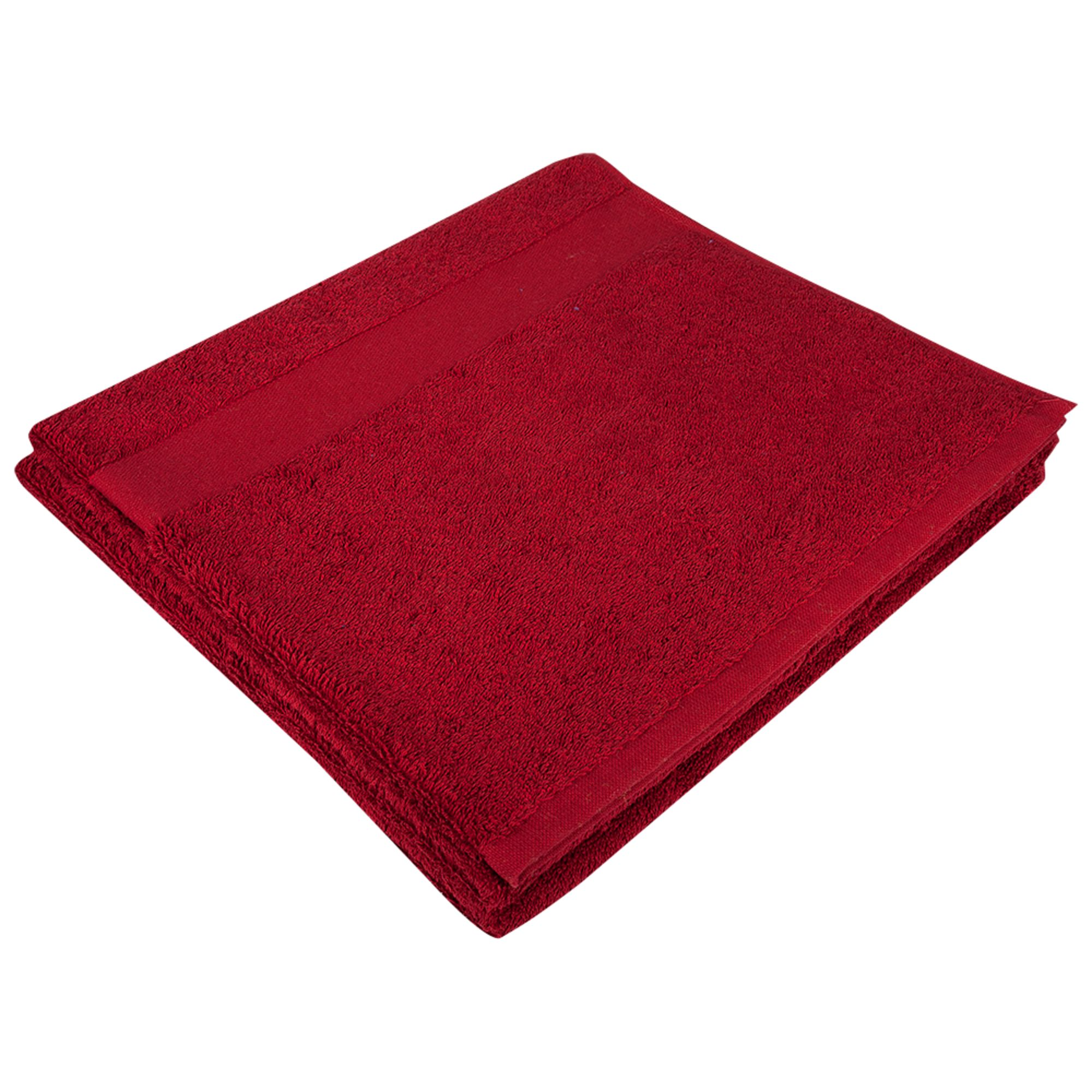 Полотенце махровое Large, бордовое