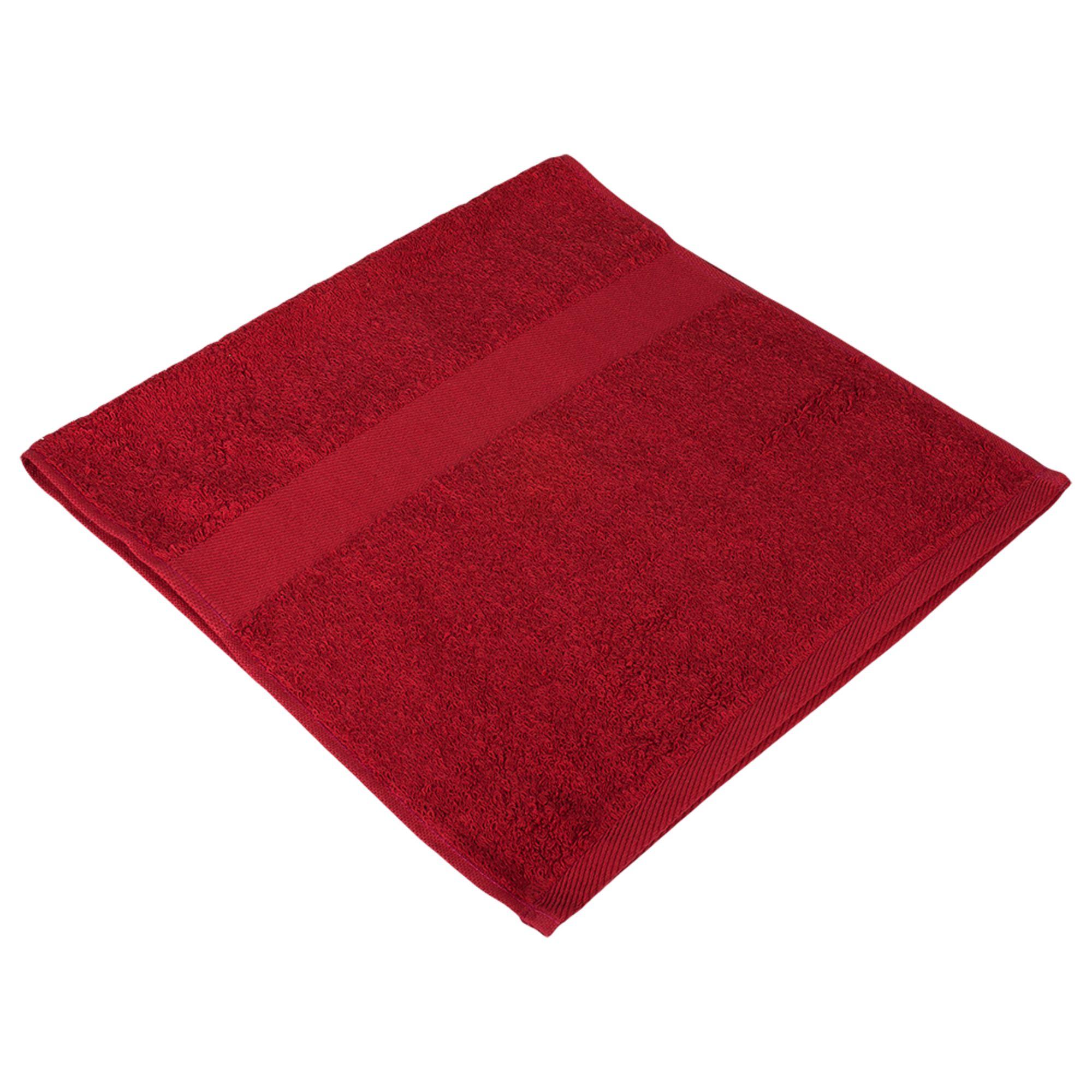 Полотенце махровое Small, бордовое