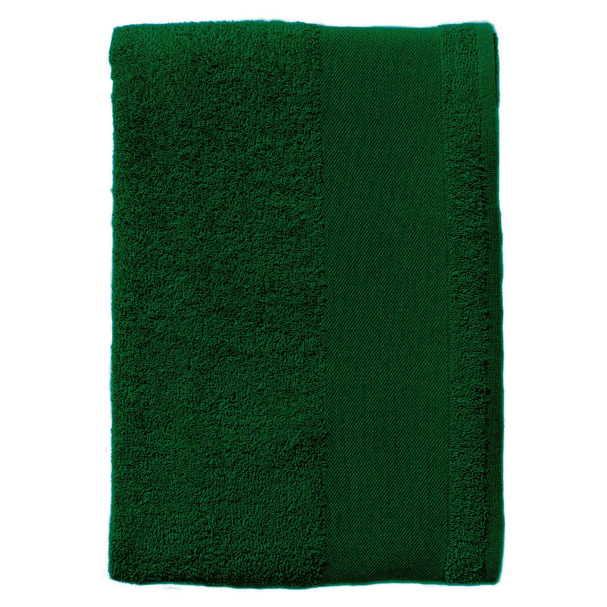 Полотенце махровое Island Large, темно-зеленое