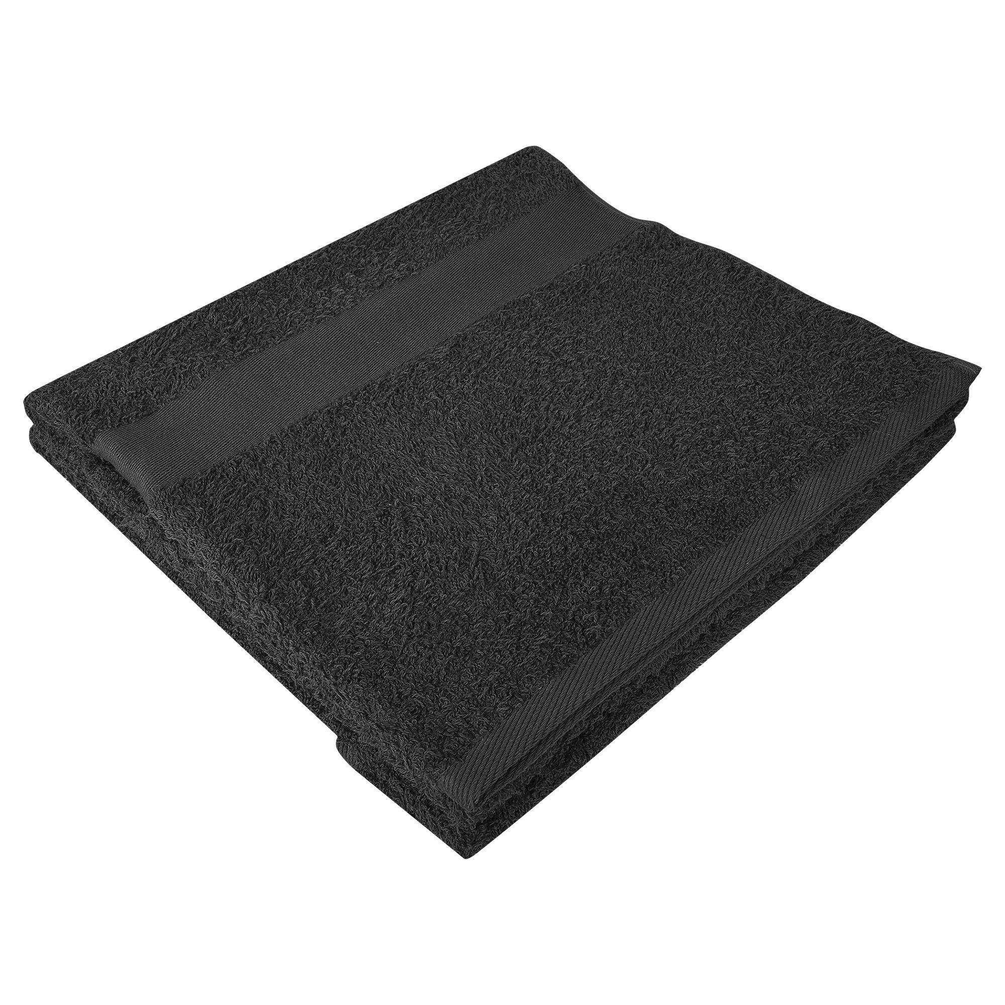 Полотенце махровое Large, черное