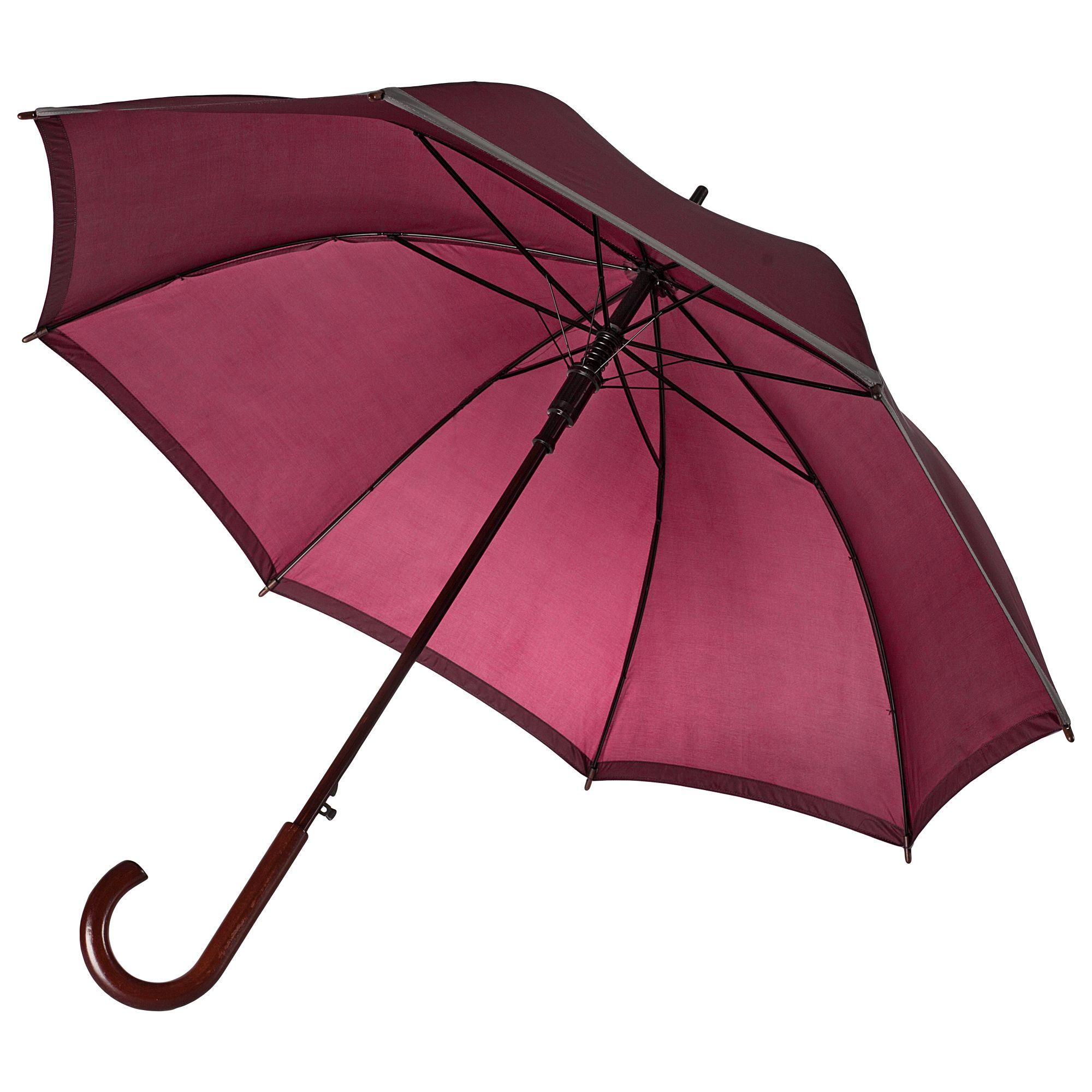 Зонт-трость Unit Reflect, бордовый