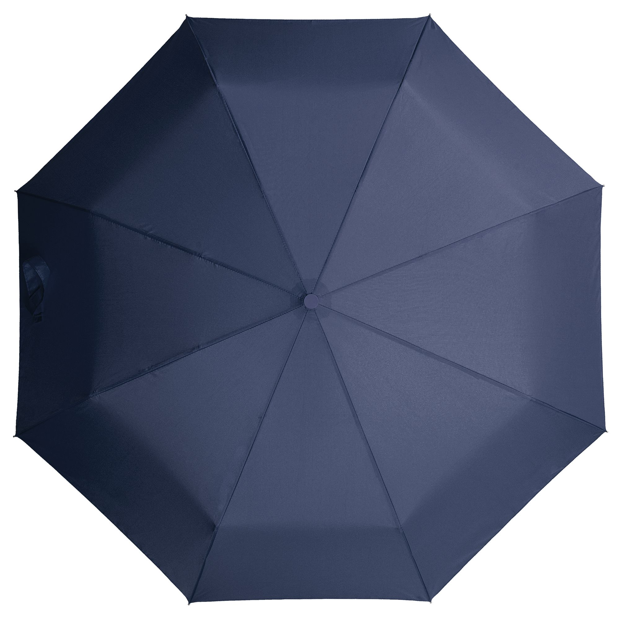 Зонт складной Unit Light с черной ручкой, темно-синий