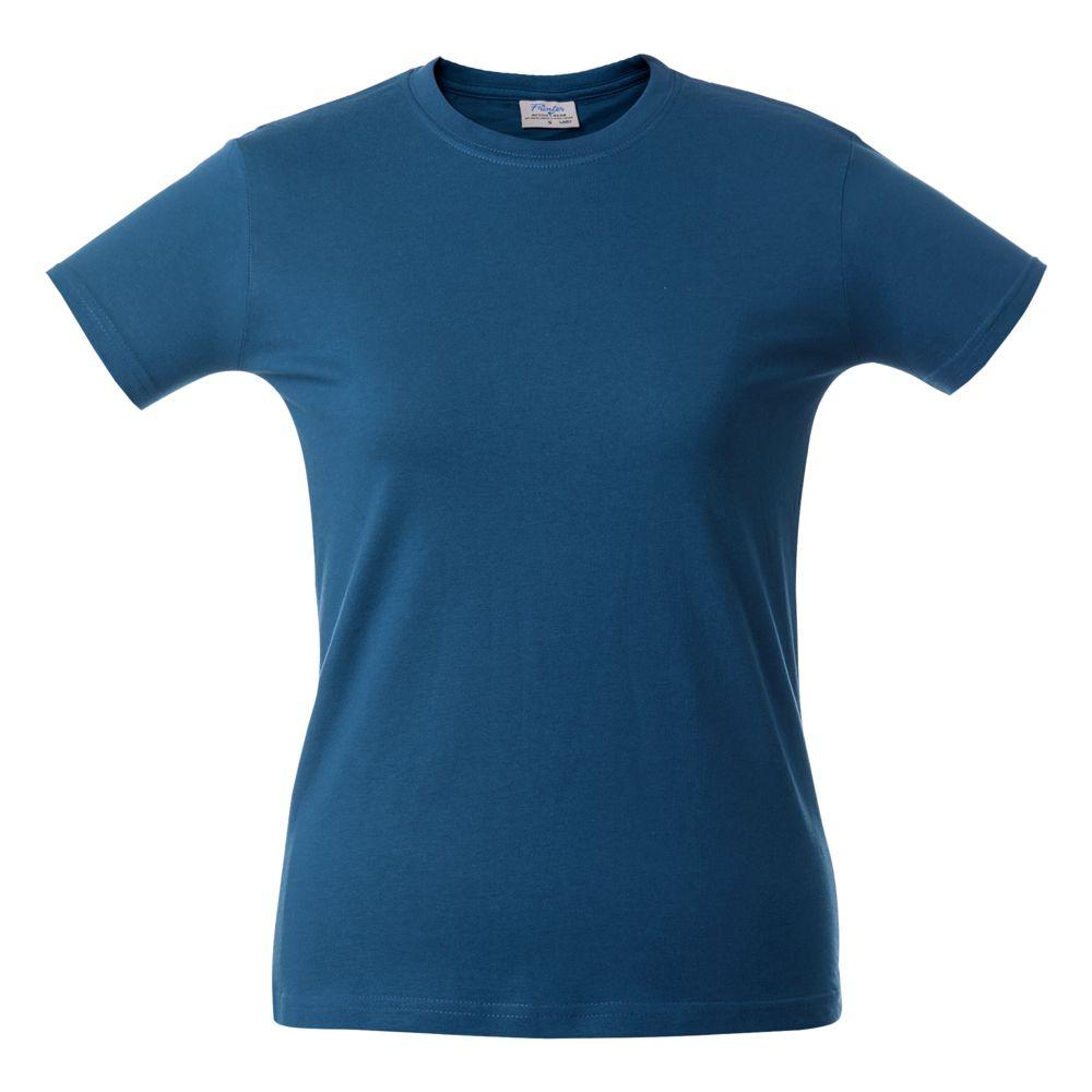 Футболка женская HEAVY LADY, ярко-синяя