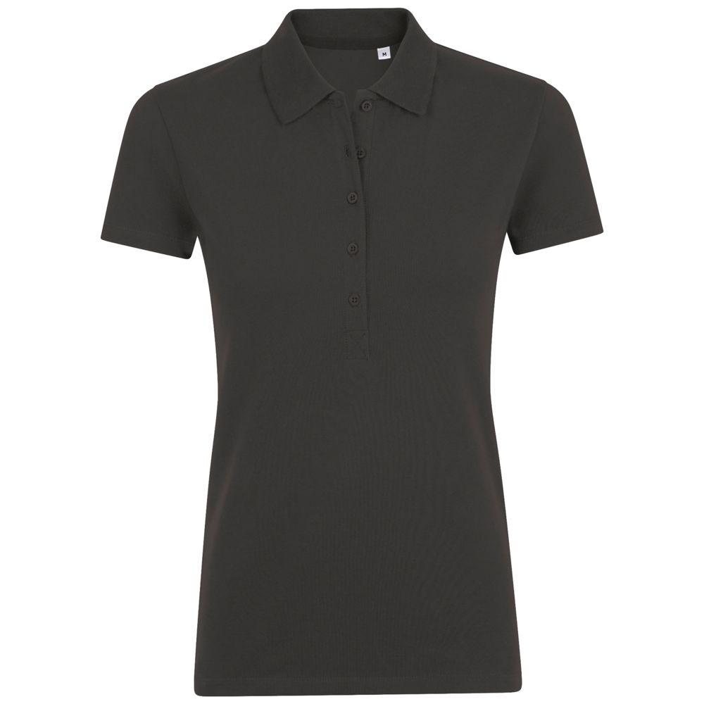 Рубашка поло женская PHOENIX WOMEN, черный меланж