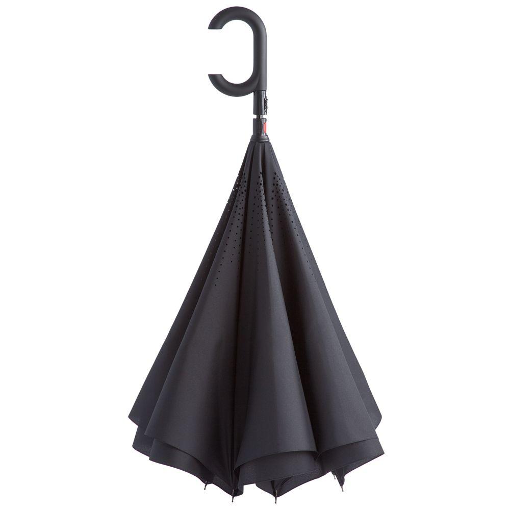 Зонт наоборот Unit ReStyle, трость, черный