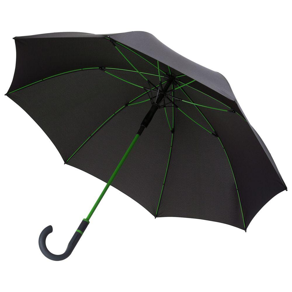 Зонт-трость Color Style, зеленое яблоко