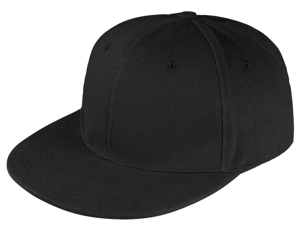 Бейсболка Unit Snapback с прямым козырьком, черная