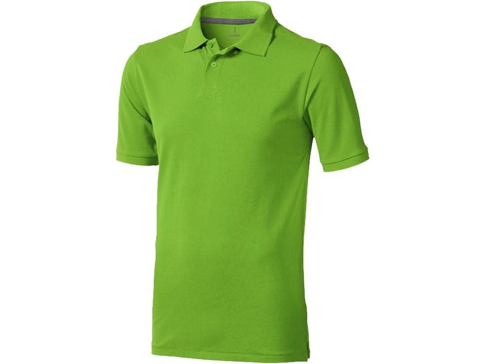 Рубашка поло Calgary мужская, зеленое яблоко