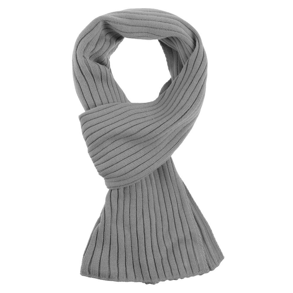 Шарф Stripes, серый