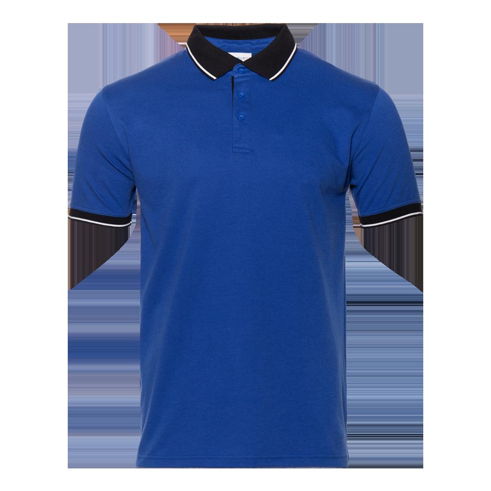 Рубашка поло мужская StanContrast 185 (04C), синяя