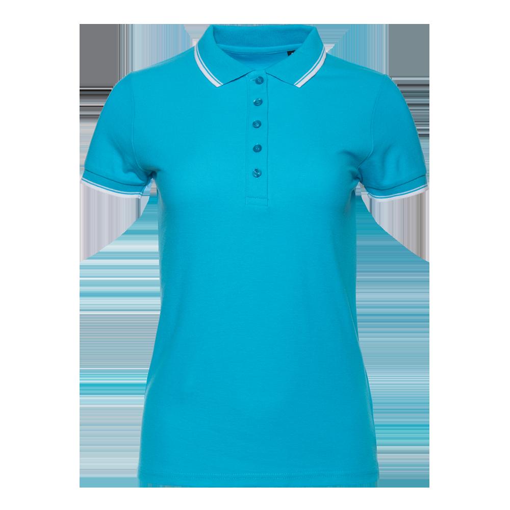Рубашка поло женская StanTrophyWomen 185 (04BK), бирюзовая