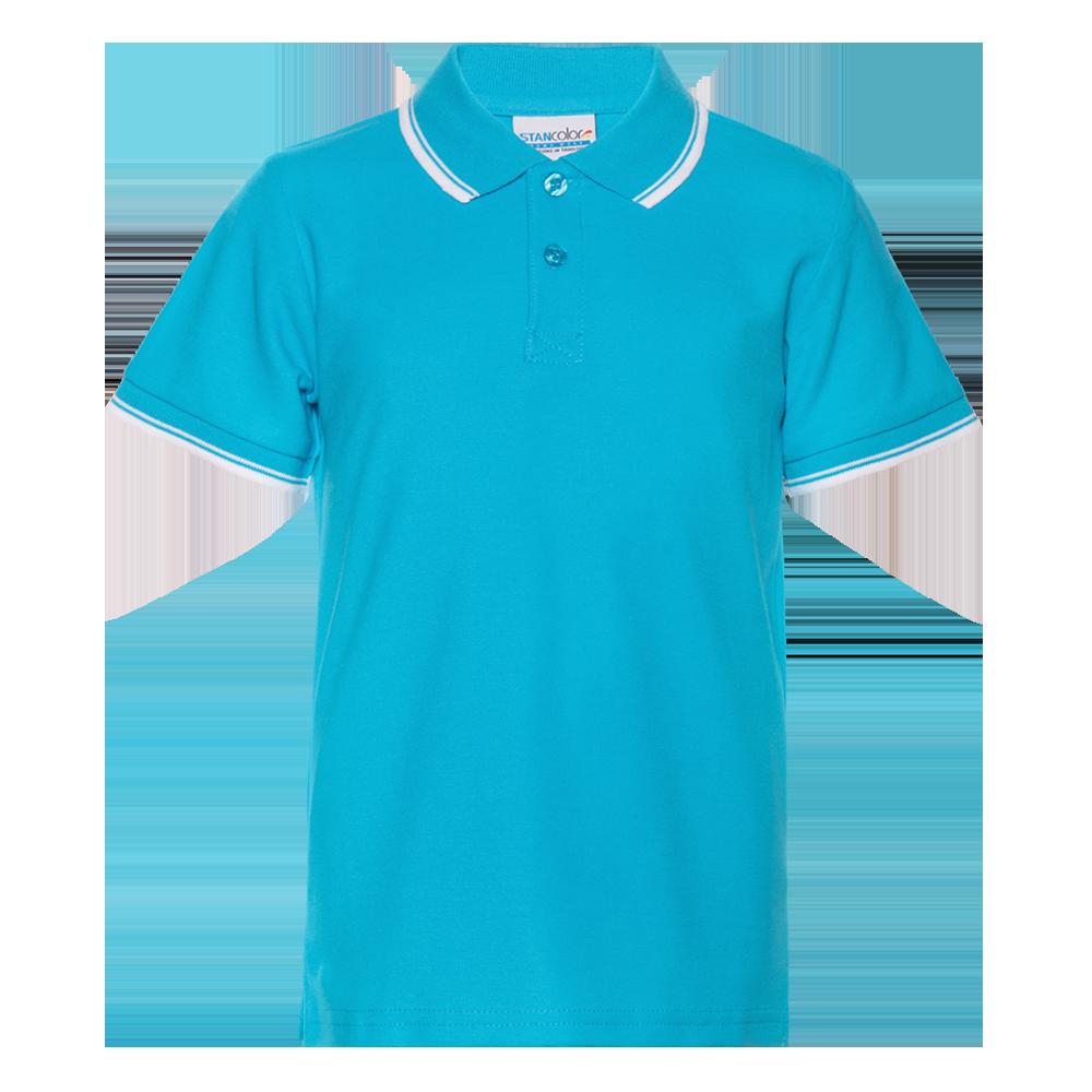 Рубашка поло детская StanTrophyJunior 185 (04TJ), бирюзовая